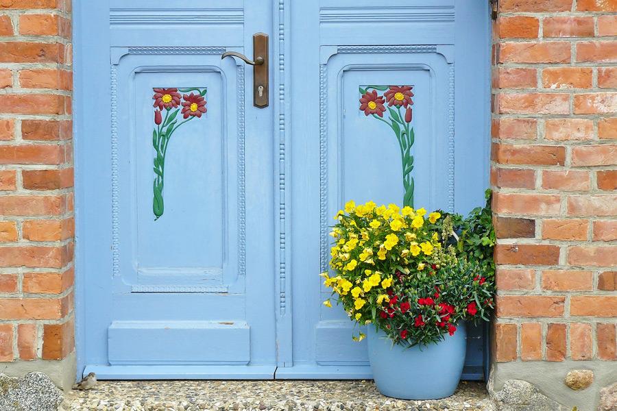 Exterior Doors Platinum Brush Painting